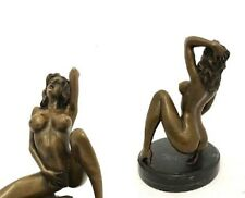 Bronze Statue Sculpture Erotic Nude Stone Sign. Nick 2,8 KG auction