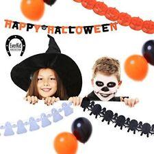 EverKid Happy Halloween Party Decoration Set 1 Banner 3 Garlands 10 Balloons