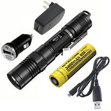 Combo: Nitecore MH12GT Rechargeable Flashlight w/USB Cord, Car & Wall Adaptors