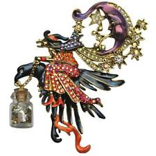 KIRKS FOLLY NIGHT RIDER WITCH PIN PENDANT IN GOLD  TONE LAST ONE
