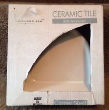 "NIB American Olean Ceramic Tile Bath Accessories Corner Shelf Small 8"" BA765CC"