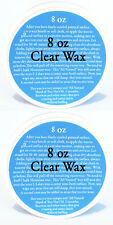 Chalk Painting Clear All Natural Furniture Wax (2) 8 oz tins of clear wax