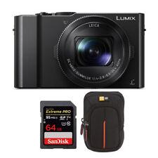 Panasonic LUMIX LX10 20.1MP 4K Digital Camera Black with 64GB Card and Case