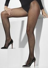 Ladies 80s 80's 1980s Fishnet Tights Plus Size Large Fancy Dress Black Smiffys