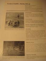 Berlin Firma:Torkret GmbH,Maschinen Werbeblatt 1944/48.Advertising 1944 Berlin