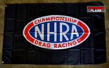 NHRA Flag Banner 3x5 ft Championship Drag Racing Wall Garage Car Black