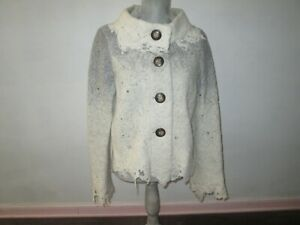 Anthropologie CASCH By Gro Abrahamsson Gray & Cream Ombre Brenneka Jacket Sz 38