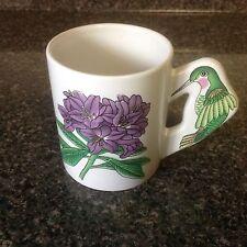Hummingbird Handle Coffee Mug Graphics Front And Back Euc