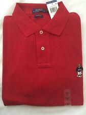 NWT $98 Men's Polo Ralph Lauren Custom Fit Bear Shirt Red-Small