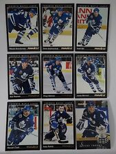 1993-94 Pinnacle Toronto Maple Leafs Team Set of 9 Hockey Cards