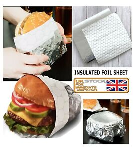 Greaseproof Burger Wrapping Paper for Burger & Wraps INSULATED FOIL SHEET 🔥🔥🔥
