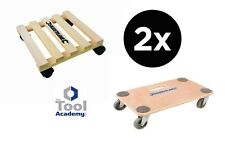 2X General Dolly Trolley Platform Wheels 150KG + 60KG Easy Move Heavy Items