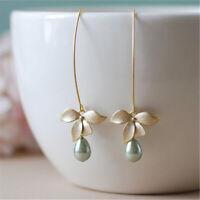 ein geschenk mode orchideen - blüten ohrringe mit ohr - hengst pearl schmuck
