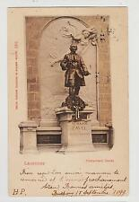 Lausanne,Switzerland,Chateau Saint-Marie,Davel Statue,Canton Vaud,Used,1899