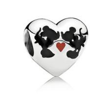 Genuino PANDORA PLATA encanto De Disney Mickey & Minnie Kiss - 791443 ENMX