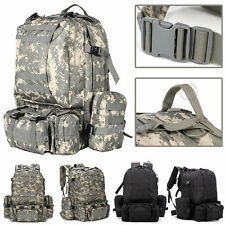 USA 55L Molle Military Tactical Bag Camping Hiking ACU Army Combat Camo Backpack