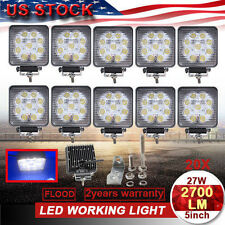 20 X 5inch 27W Led Spot Work Light Lamp Jeep Atv 4Wd Truck Suv Driving 10V 30V(Fits: Ford)