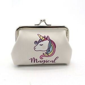 Unicorn Magical Purse Clip Purse Rainbow Girls Coin Money Bag Gift UK Seller