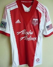 5ac0dc59dc3 MLS adidas 2013 Portland Timbers Short Sleeve Authentic Soccer Jersey S