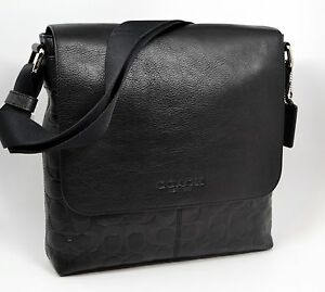 NWT COACH SULLIVAN SMALL MESSENGER IN EMBOSSED SIGNATURE LEATHER F72110