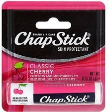 ChapStick Classic (Cherry Flavor, 0.15 Oz) Lip Balm Tube -12 Pack