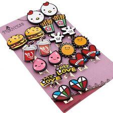 My Love Cute Cartoon Clip On Earrings Gift Set For Kids Teenage Teen Girls Women