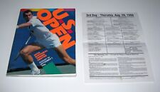 1986 Us Open Tennis Program Plus Rare daily player scoreca