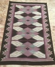 Antique Native American Navajo Hand Woven Blanket Kilim Rug