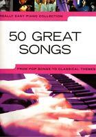 Klavier Noten : 50 GREAT SONGS - Popmusik (Really Easy Piano)  leicht - leMittel