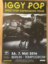 IGGY POP  2016  BERLIN - orig.Concert Poster - Konzert Plakat  NEU