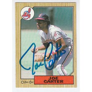 Joe Carter Autographed 1987 O-Pee-Chee Baseball Card
