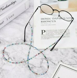 Coloured beaded cord chain lace lanyard strap string eye mag reading sunglasses