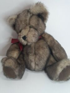 """Bombay Russ """"Danny"""" Brown Teddy Bear With Bow Plush - Stuffed Animal - 12 in."""