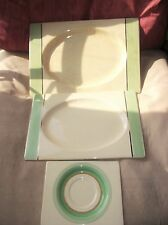ROYAL STAFFORDSHIRE THE BIARRITZ 3 X PLATTERS GREEN 784849 6894 1934 / 1938 DECO