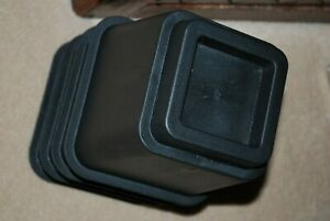 Black Bed Risers, Set of 4, preowned but never used