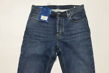 ACNE STUDIOS Blå Konst Jeans Straight Land Mid Blue Made in Italy Sz 34 $320