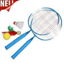 Spielen SPORTS Federball Schläger Set Kinder Badmintonschläger (Blau) #JT1