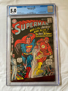 Superman #199 (1967) 1st Superman/Flash race. CGC  5.0