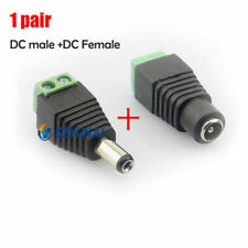 1 Pairs DC Power Supply Adapter Jack Male Female Connector Plugs 5.5x2.1mm