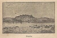 A0083 Giaffa - Veduta - Stampa Antica del 1907 - Xilografia