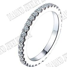 Sterling Silver Full Eternity Anniversar Band Cubic Zirconia Men's Ring Jewelry
