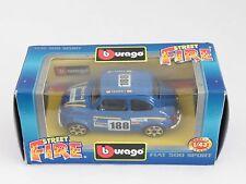 [PH3-5] BBURAGO BURAGO 1/43 STREET FIRE FIAT 500 SPORT BLU N.188 NIB