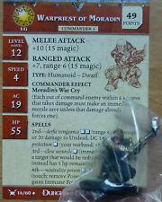 Dungeons & Dragons Miniatures WARPRIEST OF MORADIN+CARD-War Drums (Cod. D&D 24)