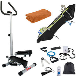 Sunny Health and Fitness Twister Step Machine Handlebar Adjustable Height & LCD