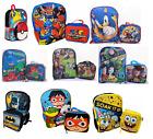 Little Boys School Backpack Lunch box Set Cartoon Book Bag Kids Children Heroes