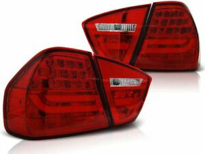 LED REAR TAIL LIGHTS LDBMC7 BMW 3 SERIES E90 2005 2006 2007 2008 RED