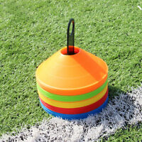 50pcs Football Training Cones - MULTI COLUR - Football/Sports Marker Disc UK