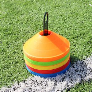 50pcs Football Training Cones - MULTI COLUR - Football/Sports Marker Disc UK