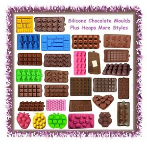 Silicone chocolate / ice / baking moulds - CHOOSE STYLE - cake cupcake fondant