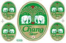 """D296 Chang Beer Thailand Racing Tuning Sticker Decal 1 Sheet 10,5""""x7"""" / 27x18 cm"""